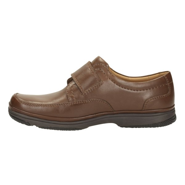 Mens H Fitting Shoes With Velcro Fastening