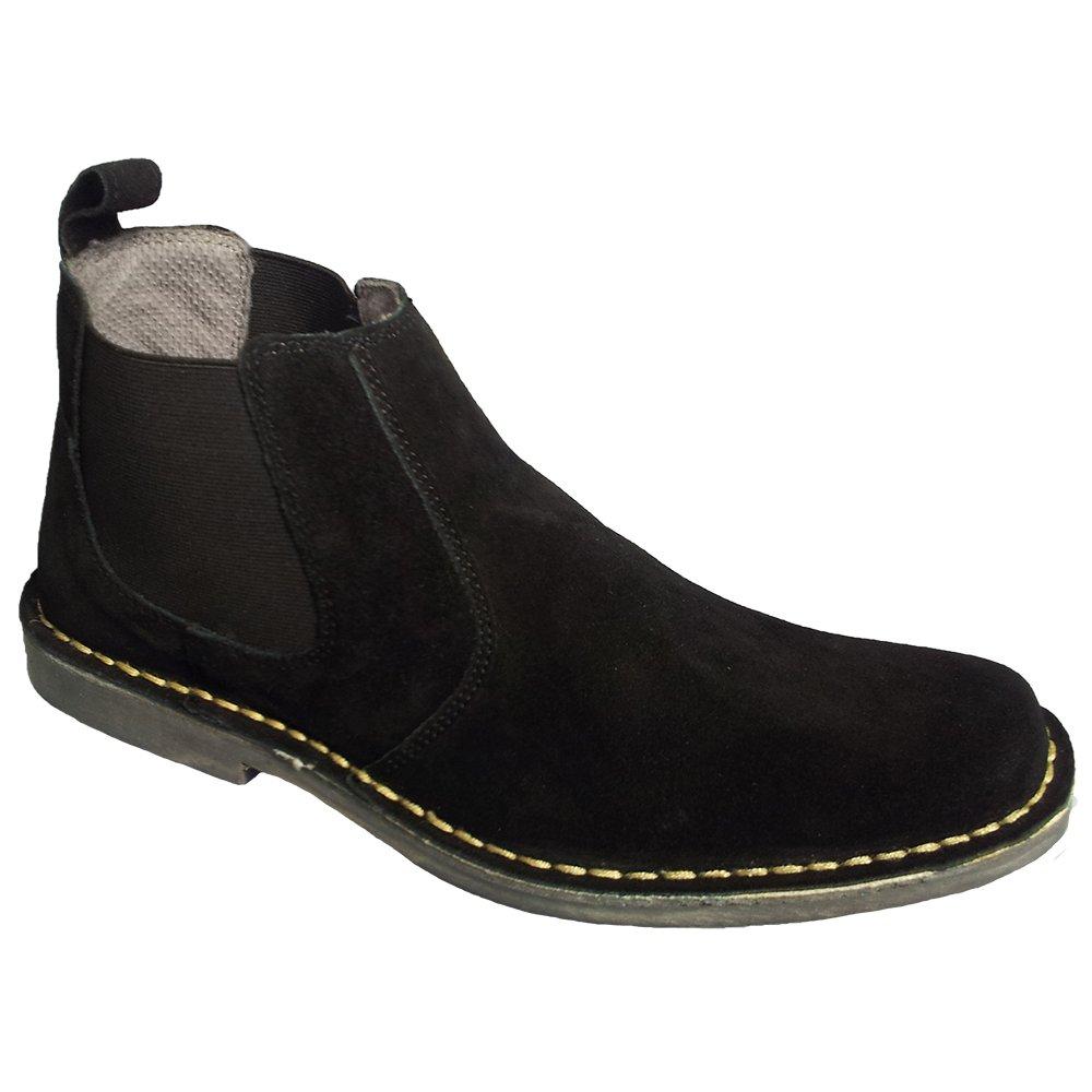 roamers mens black elastic sided desert boots m765as