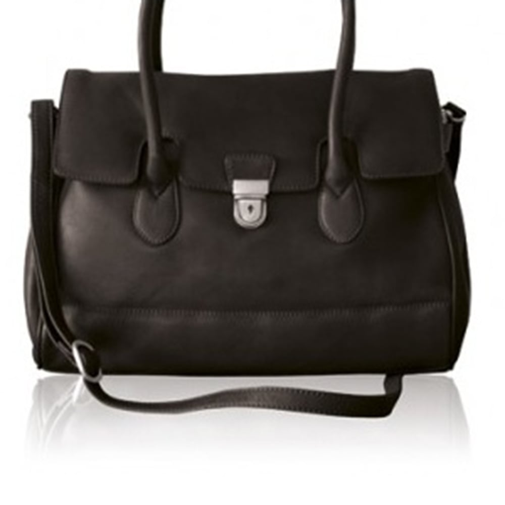 Bolla Bags Ladies Black Leather Premier Handbag Be7049bk