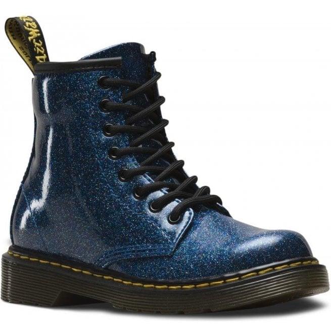 904c83be496b Dr Martens - Kids Dr Martens - Kids 1460 Glitter Blue Leather Junior Ankle  Boots 24088400