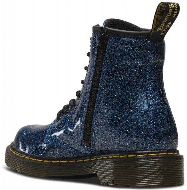 look good shoes sale high quality speical offer Dr Martens - Kids 1460 Glitter Blue Leather Junior Ankle Boots 24088400