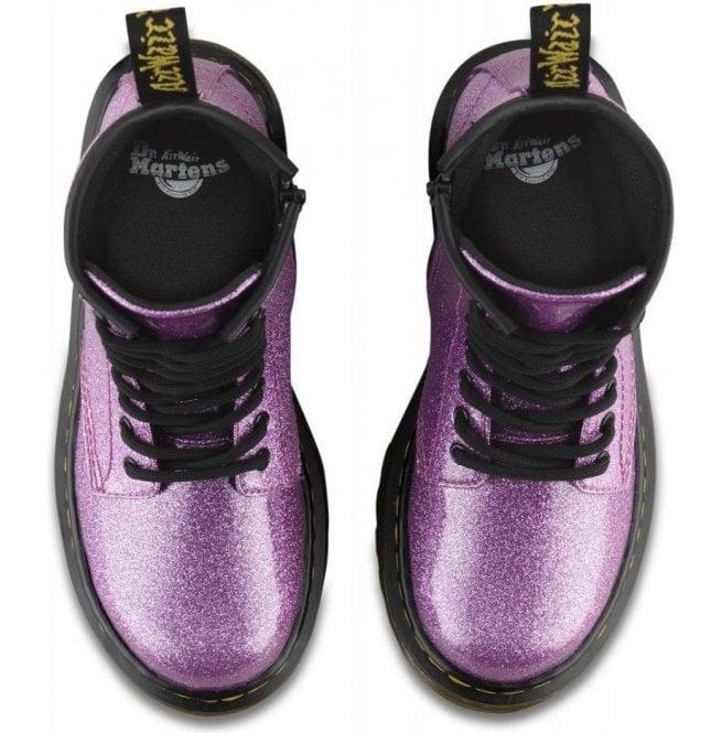 Dr Martens Kids 1460 Glitter Pink Leather Junior Ankle Boots 24088960