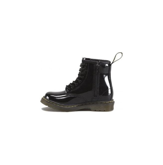 92ffaaf7ffe Dr Martens Kids Brooklee Black Patent Kids Boots 15373003