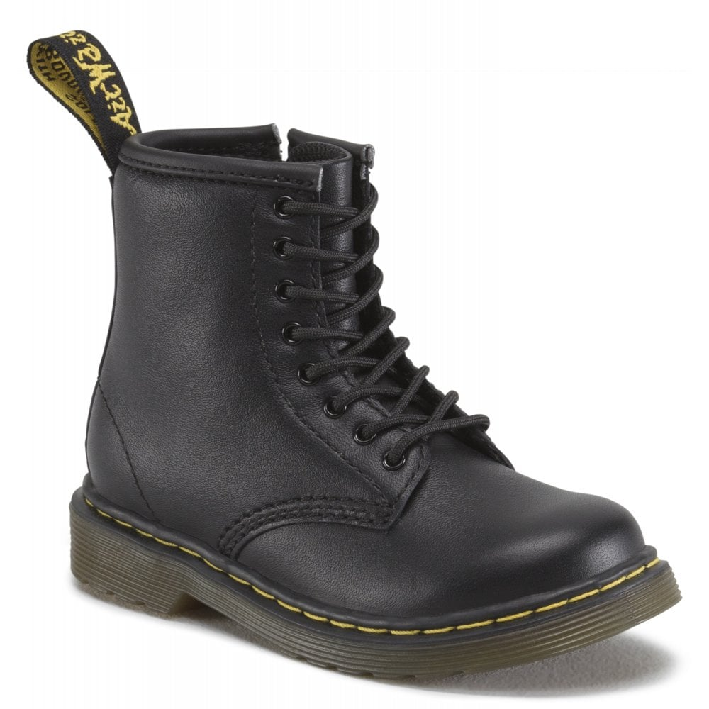 new cheap best choice wholesale outlet Dr Martens - Kids Brooklee Black Softy Leather Kids Boots 15373001