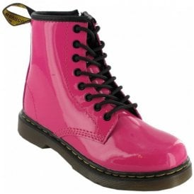 112f4ab655c47 Brooklee Pink Patent Leather Kids Boots 15373670 · Dr Martens ...