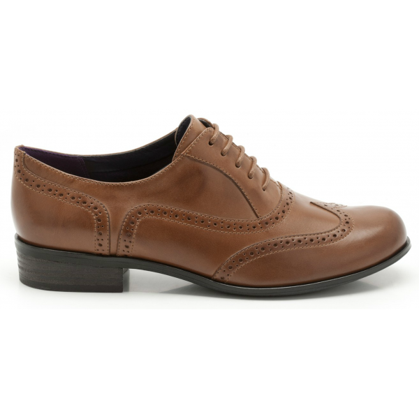 Clarks Ladies 'Hamble Oak' Dark Tan Leather Casual Shoe