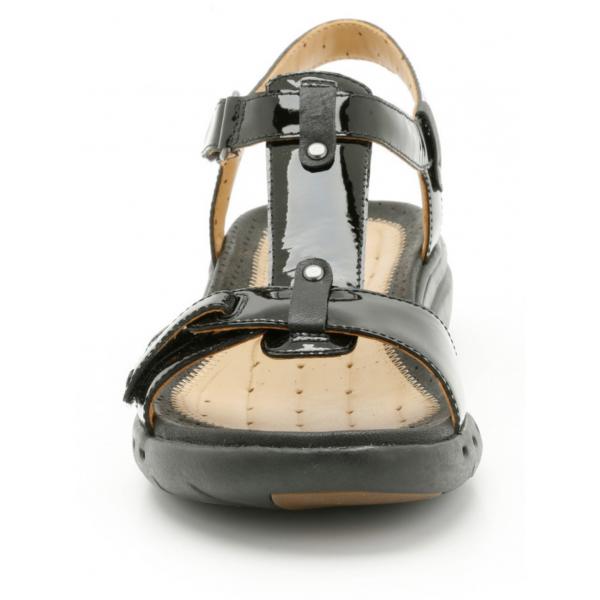 Un Swish Navy Patent Ladies Sandals