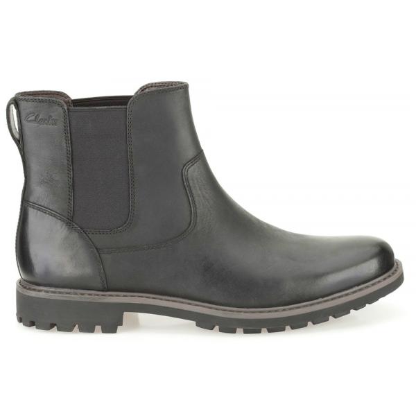 615cda78 Clarks Mens Montacute Top Black Leather Boot