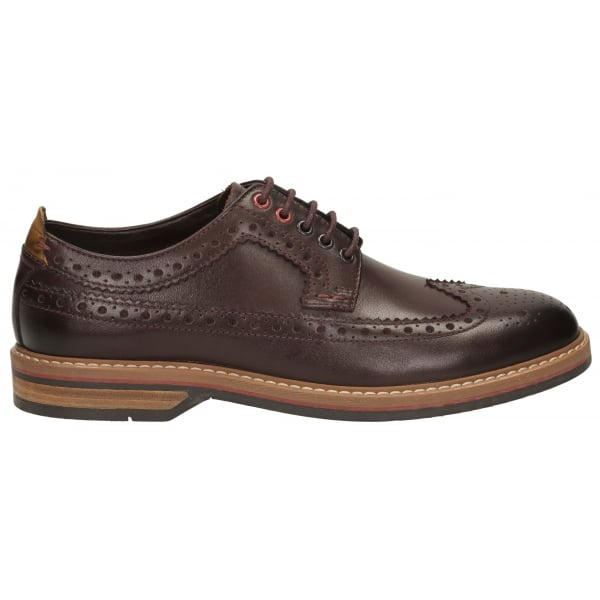 Clarks Mens Pitney Limit Chestnut Leather Brogue Shoes 54b490dbd05