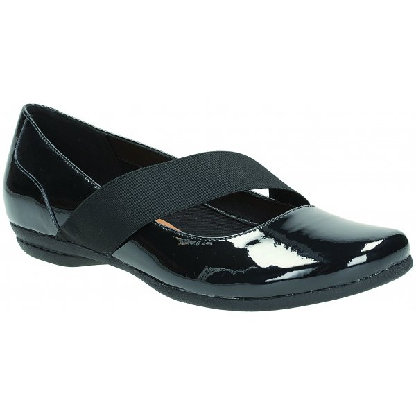 ba940fecf Clarks Womens Discovery Ritz Black Patent Mary Jane Shoes
