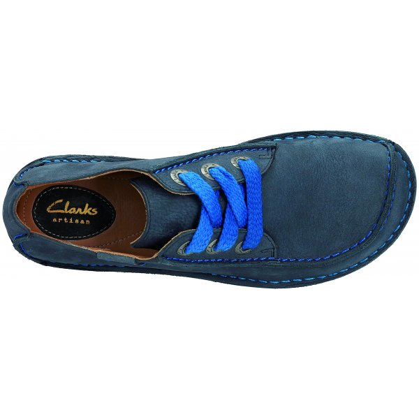 22006e66d4 Clarks Womens Funny Dream Navy Nubuck Casual Shoes