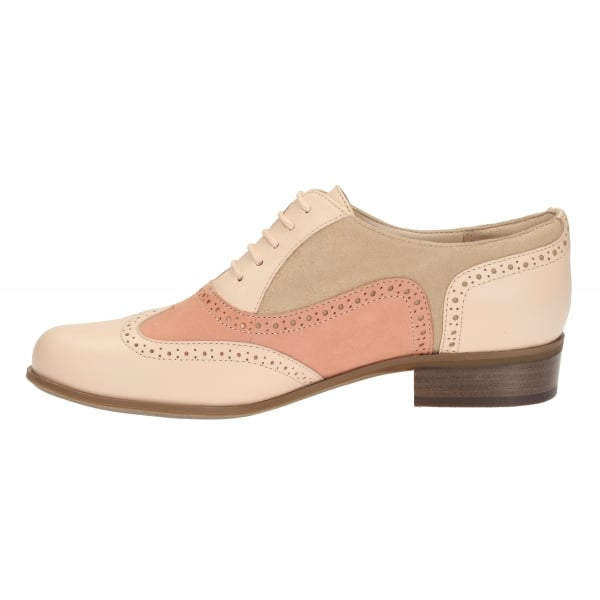 Clarks Womens Hamble Oak Peach Combi Leather Casual Shoe