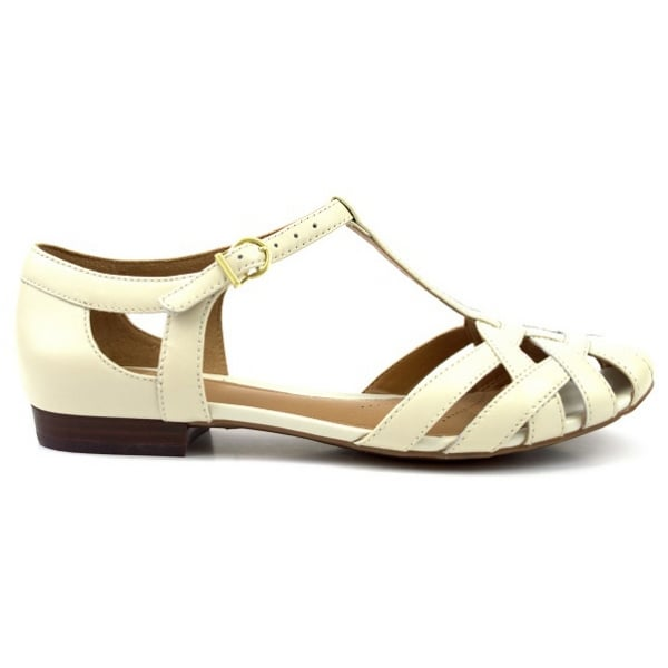 31853d9e39de Clarks Ladies Henderson Luck Off-White Leather Shoes at Marshall Shoes