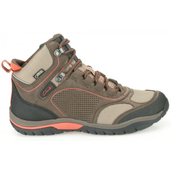 475fb35efb6 Clarks Womens IntourRouteGTX Brown Nubuck GoreTex Walking Boot