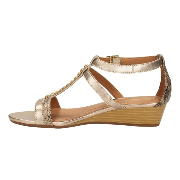 eb182264d91a6 Clarks Ladies Playful Fox Metallic Combi Casual Sandals at Marshall ...