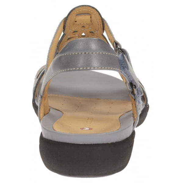 5fe01ee7d7b Clarks Un Valencia Grey Blue Leather Sandals at Marshall Shoes