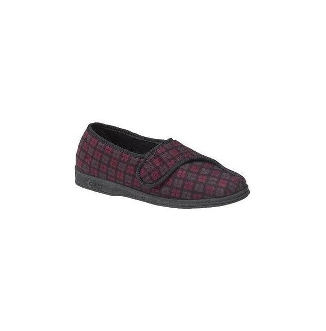 170a36b59a92 Comfylux Mens Paul Wine Velcro Slipper at Marshall Shoes