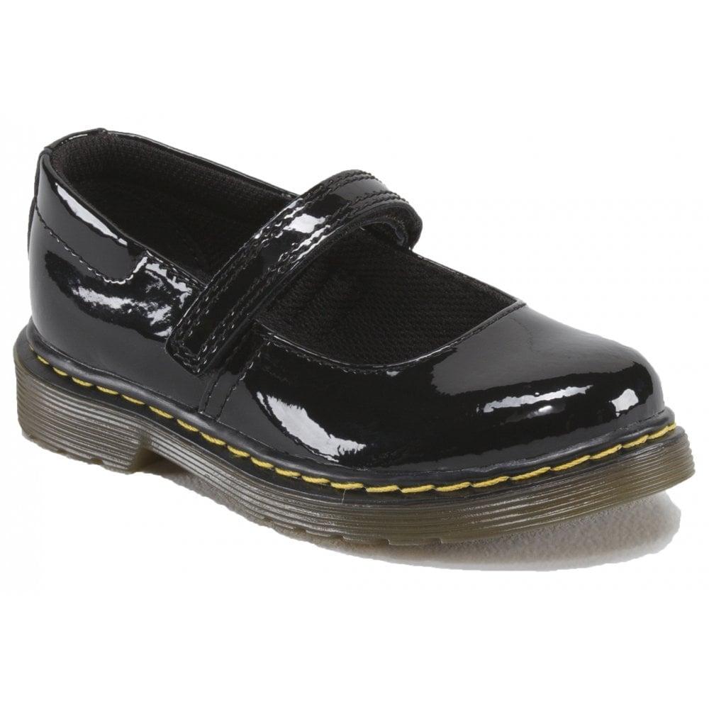 Dr Martens Infants Core Tully Black Patent Shoes 15654002 c938e317d
