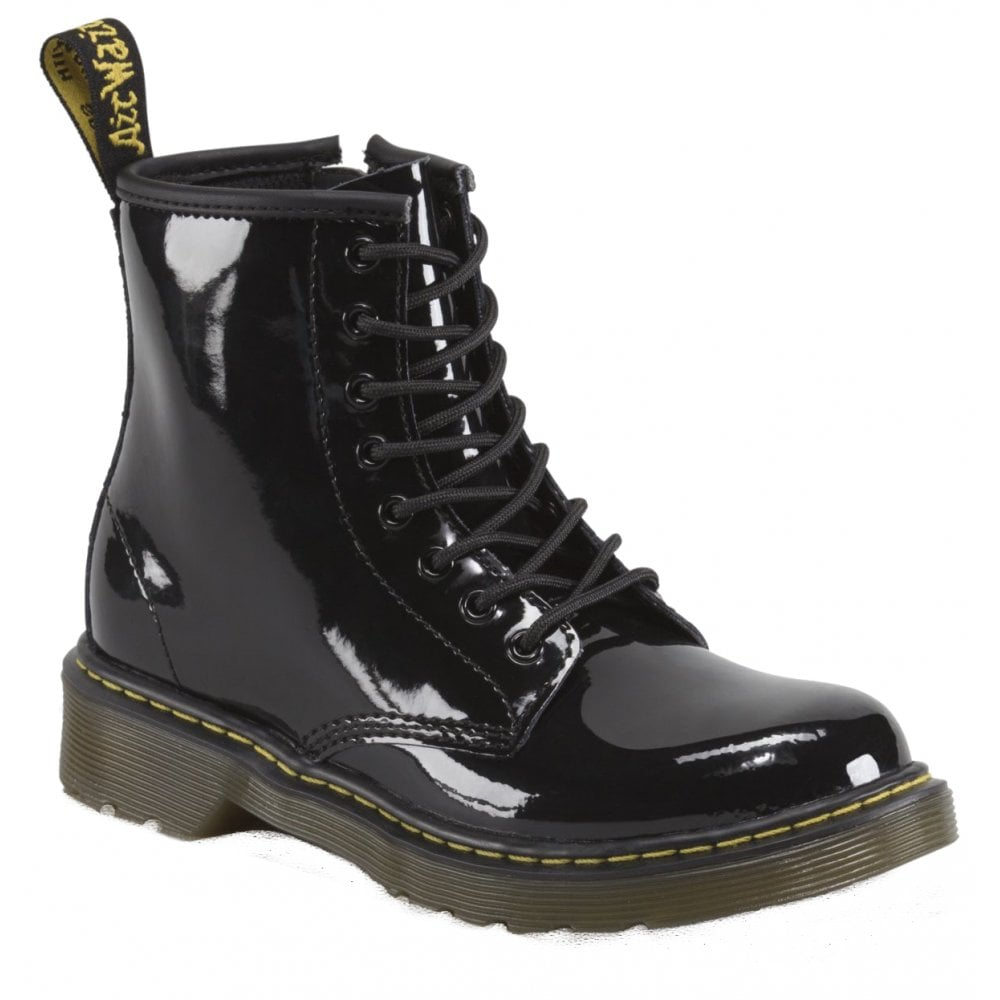 bc61282217f Delaney Black Patent Leather Junior Boots 15382003