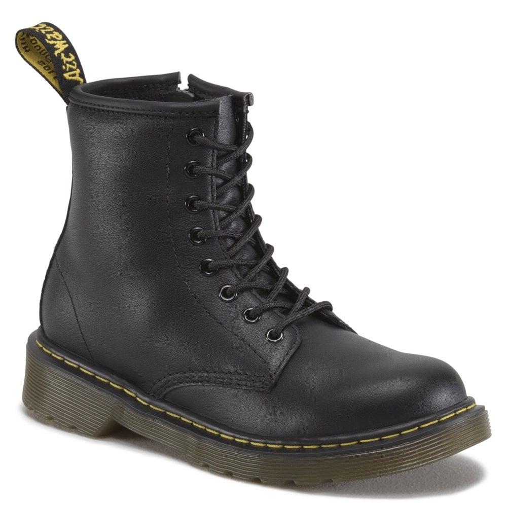 b98d401ef1 Dr Martens - Kids Dr Martens - Kids Delaney Black Softy Leather Junior Boots  15382001