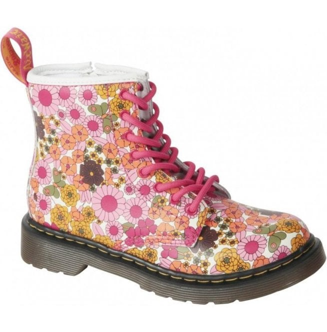 f0a914ac90a4a Dr Martens Kids Delaney Pink Vintage Daisy Junior Softy T 15382650