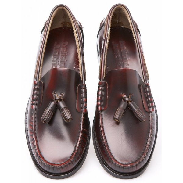 a035f8123cdcd Delicious Junction Mens Merton Oxblood Penny Loafer