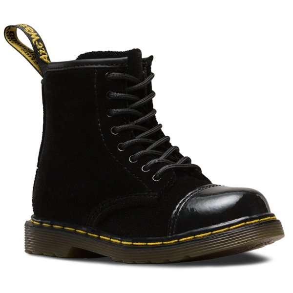 79304e6ea0723 Dr Martens Girls Bunny Black Black Patent Ankle Boot 16803001