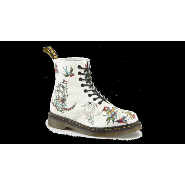 Dr Martens Ladies Applique Louie Tattoo Sleeve Print Boot