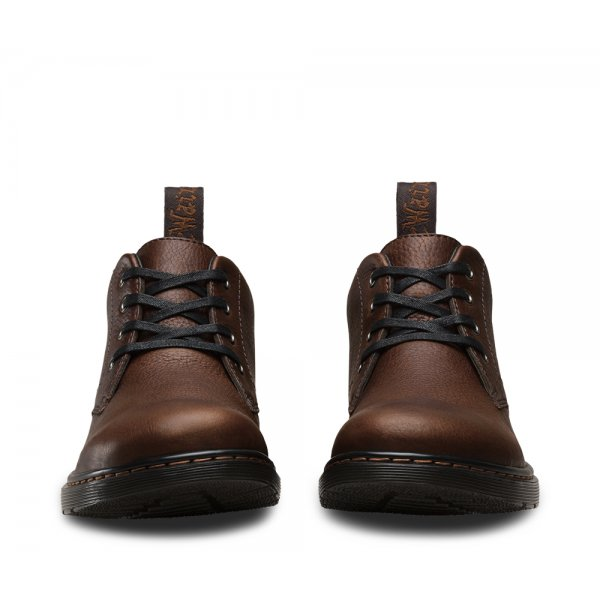 Dr Martens Mens Barnie Dark Brown Chukka Boots 14799201
