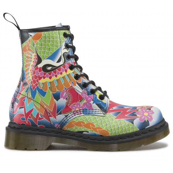 Dr Martens Womens 1460 Psych Tattoo Lace Up Boot 16538101