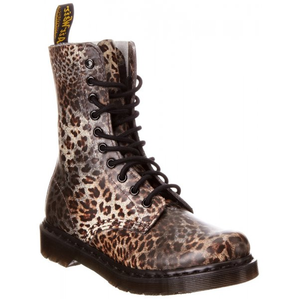 aa84589de88e Dr Martens Womens Leopard Print Classic Boot at Marshall Shoes