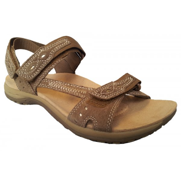 c3b90f161007f Home · Womens  Earth Spirit Ladies  Arlington  Brown Double Velcro Strap  Sandal 18522. Tap image to zoom. Ladies   039 Arlington  039  Brown Double  Velcro ...