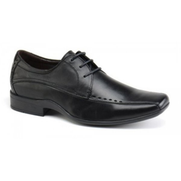 Front Mens Ryton Black 3 Eyelet Lace Up Shoes FR6981