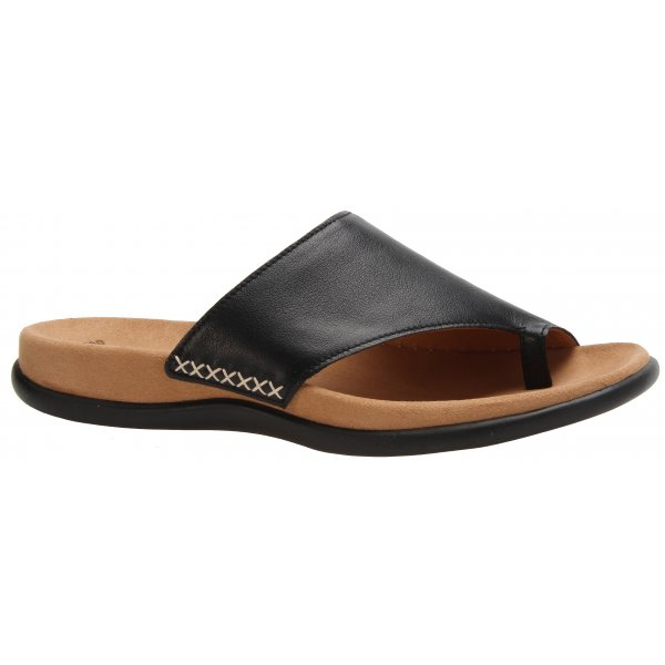 d4dc026fa21c Gabor Ladies Lanzarote Black Toe Post Sandal 83.700.27
