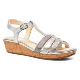 51360a7f73d Girls Harpy Jen Jnr Silver Leather Sandals