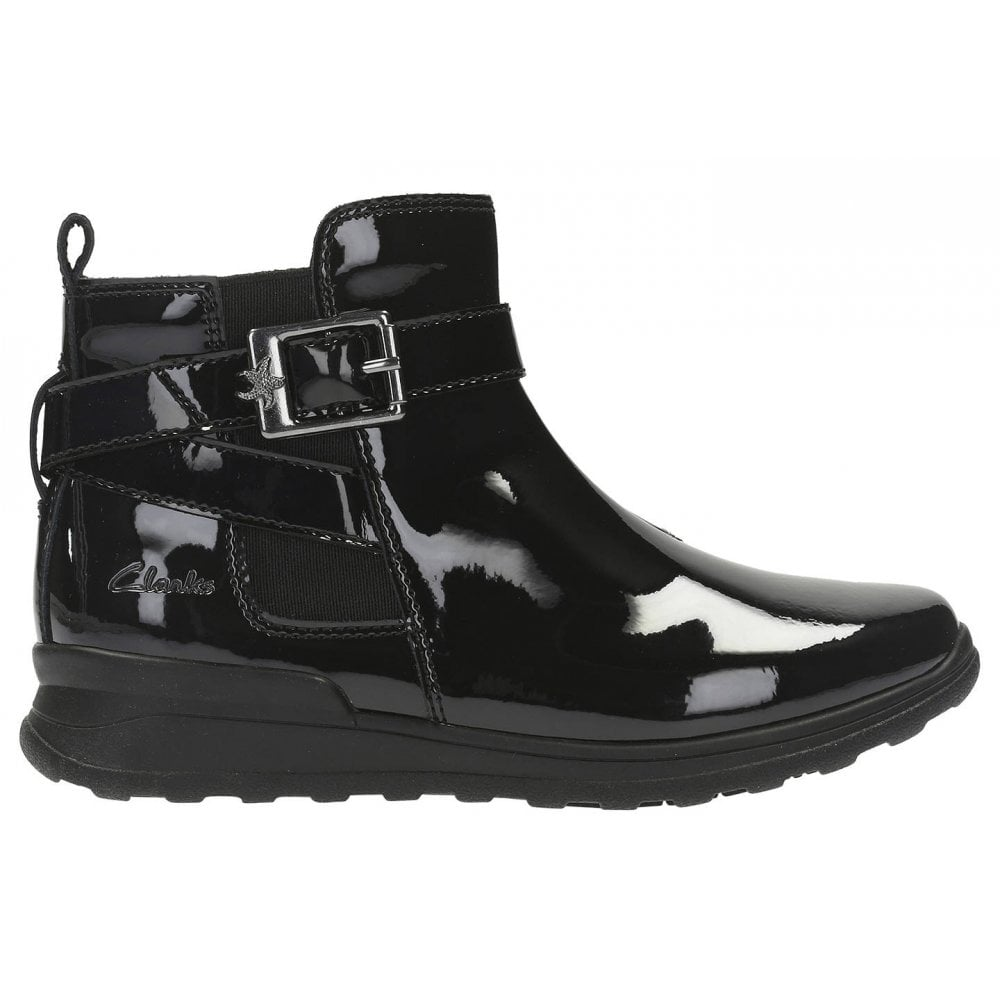 Black Patent Leather Ankle Boots G Fit