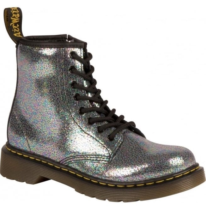 57f799f3cf5d2 Dr Martens Junior Grey Lace Up Ankle Boots 21559020