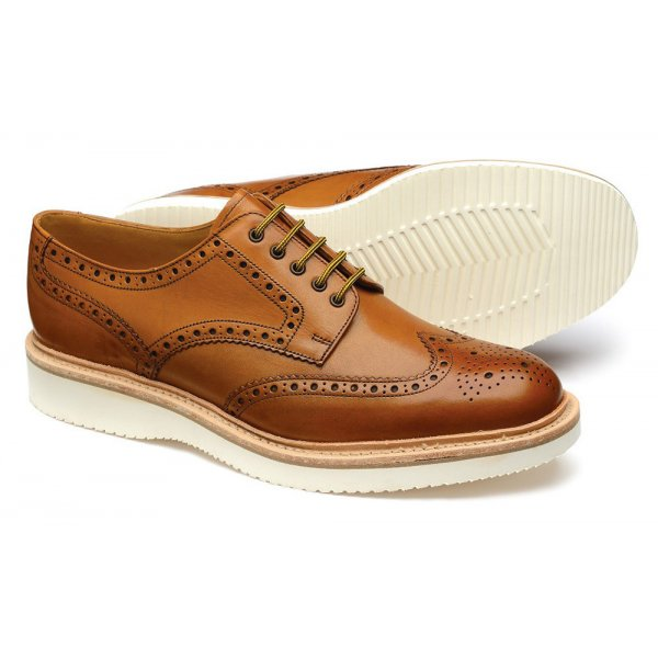 969de2fa6dc Loake Mens 'Hal' Tan Leather Brogue Shoe | Marshall Shoes