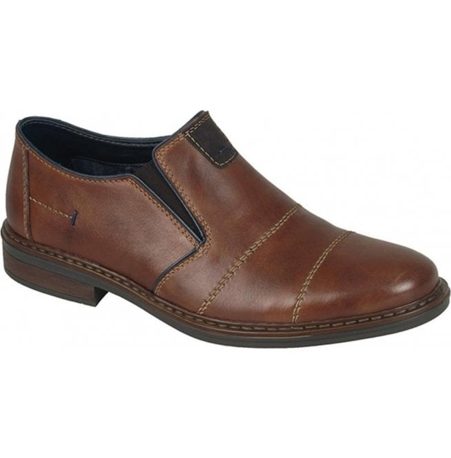 Rieker Mens Cavallino Brown Leather