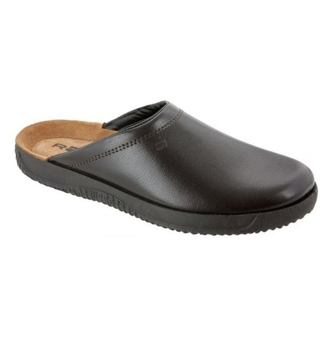 leather clog slippers
