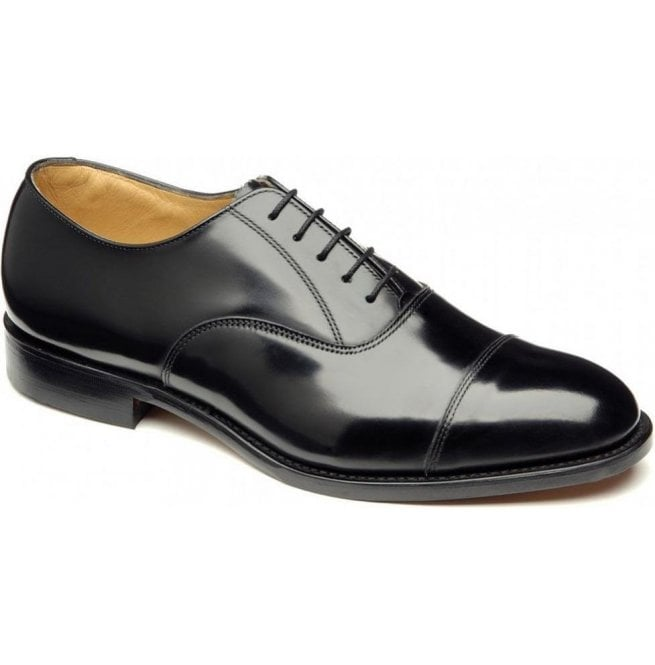 f1d396ae8a5f Loake Mens 747 Black Polished Leather Oxford Shoes
