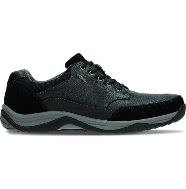 Clarks Baystone Go GTX Black Leather