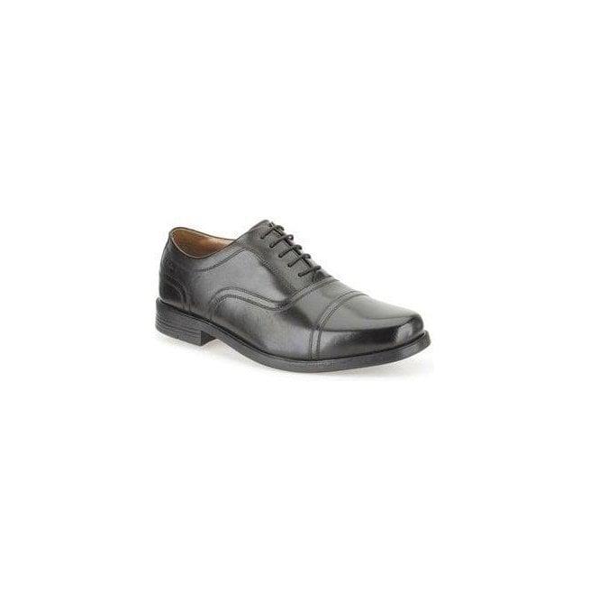 Clarks Mens Beeston Cap Black Leather Formal Shoes 26102889