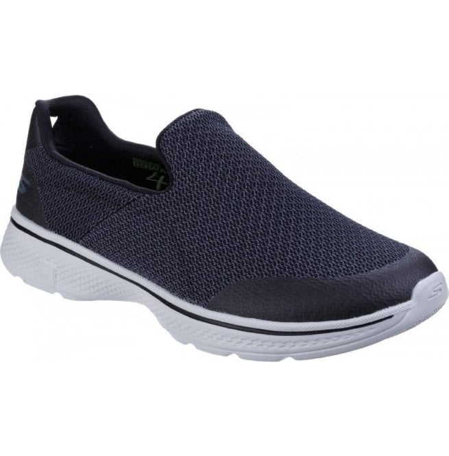 d06c2140e40 Skechers Mens Black Grey Go Walk 4 - Expert Slip On Walking Shoes ...