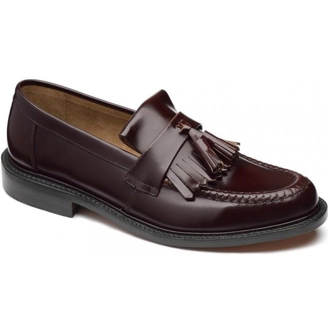 280507ce Loake Loake Mens Brighton Iconic Oxblood Leather Loafers