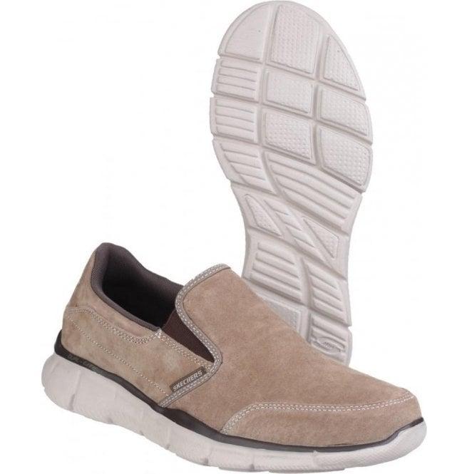 Skechers Mens Brown Equaliser Mind Game Memory Foam Slip On Shoes SK51502