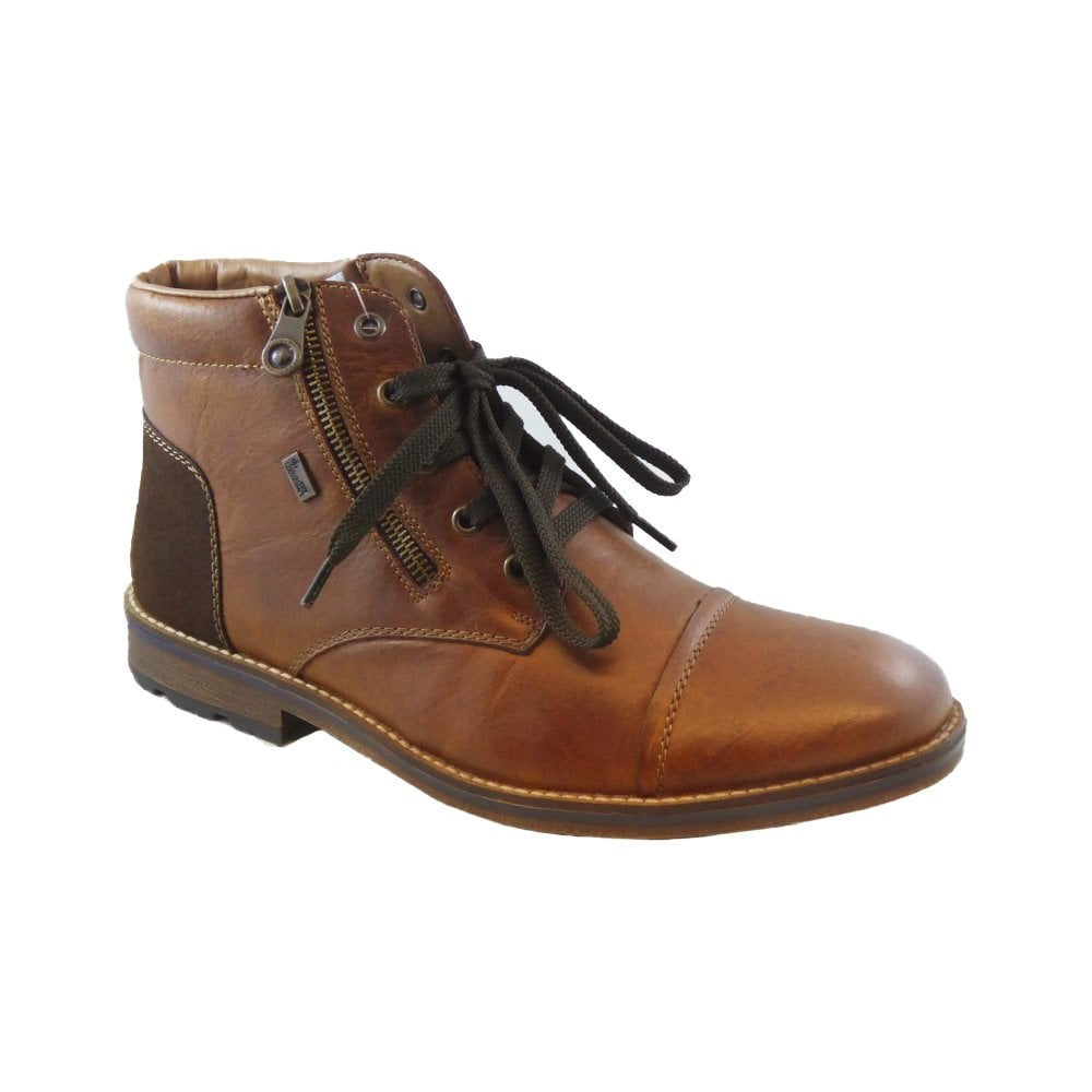 Rieker Mens Burnei Leather Lace Up Waterproof Ankle Boots F5530 25