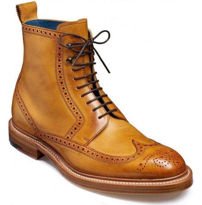 Cedar Hand Painted Derby Brogue Boots