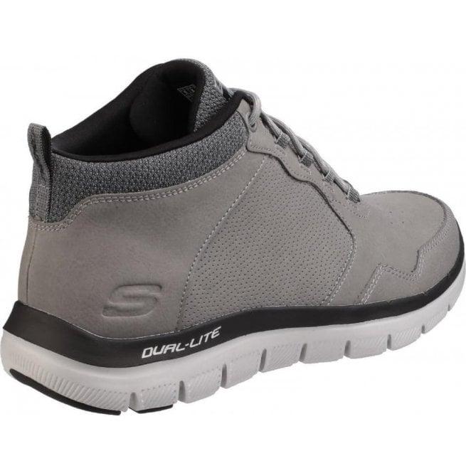 Skechers Mens Charcoal Flex Advantage 2.0 High Key High Top Trainers SK52187