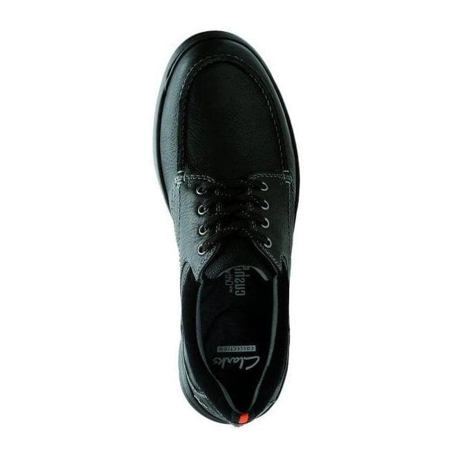 6c64e755848c Clarks Mens Cotrell Edge Black Oily Leather Lace Up Shoes